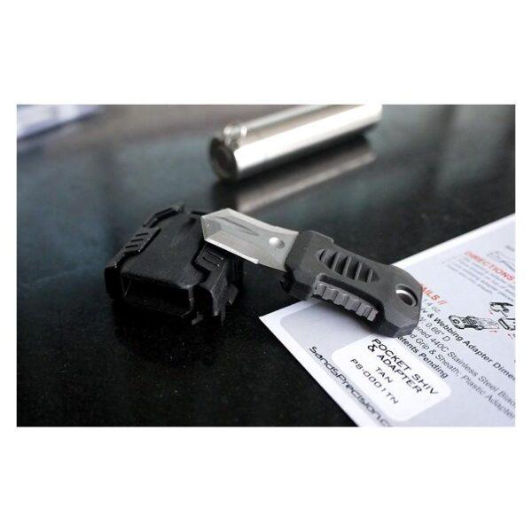 18482 - Многофункциональный EDC мини-нож для нательного, карманного ношения: сталь 440C, крепление M.O.L.L.E.