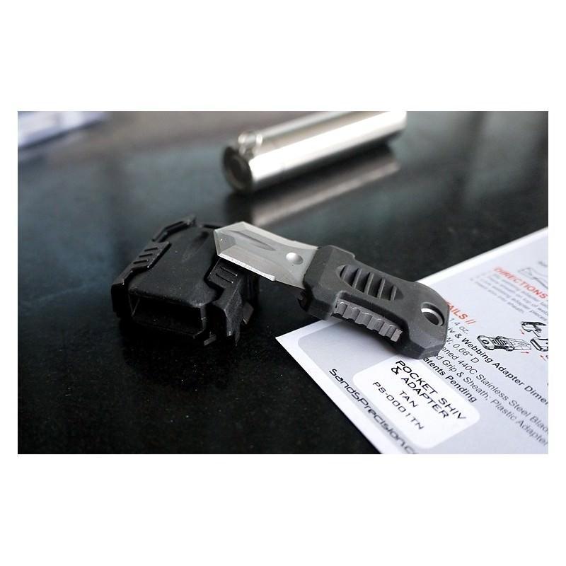 Многофункциональный EDC мини-нож для нательного, карманного ношения: сталь 440C, крепление M.O.L.L.E. 198596