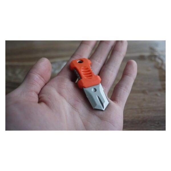 18484 - Многофункциональный EDC мини-нож для нательного, карманного ношения: сталь 440C, крепление M.O.L.L.E.