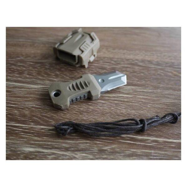 18485 - Многофункциональный EDC мини-нож для нательного, карманного ношения: сталь 440C, крепление M.O.L.L.E.