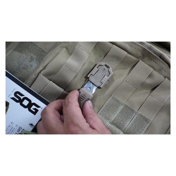 18486 - Многофункциональный EDC мини-нож для нательного, карманного ношения: сталь 440C, крепление M.O.L.L.E.