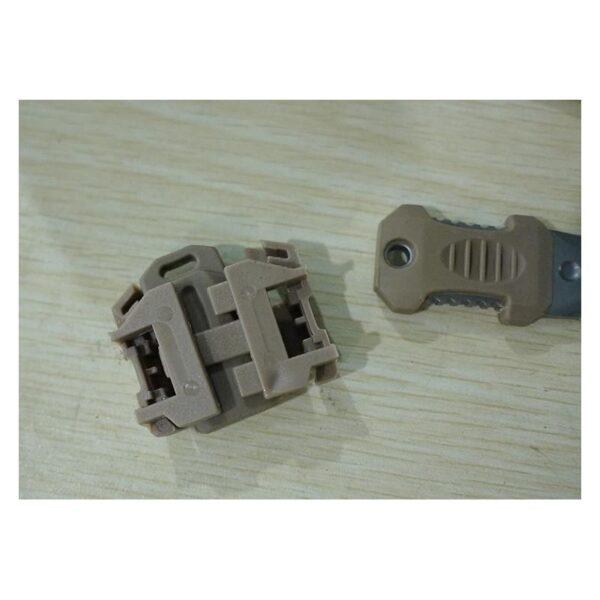 18487 - Многофункциональный EDC мини-нож для нательного, карманного ношения: сталь 440C, крепление M.O.L.L.E.
