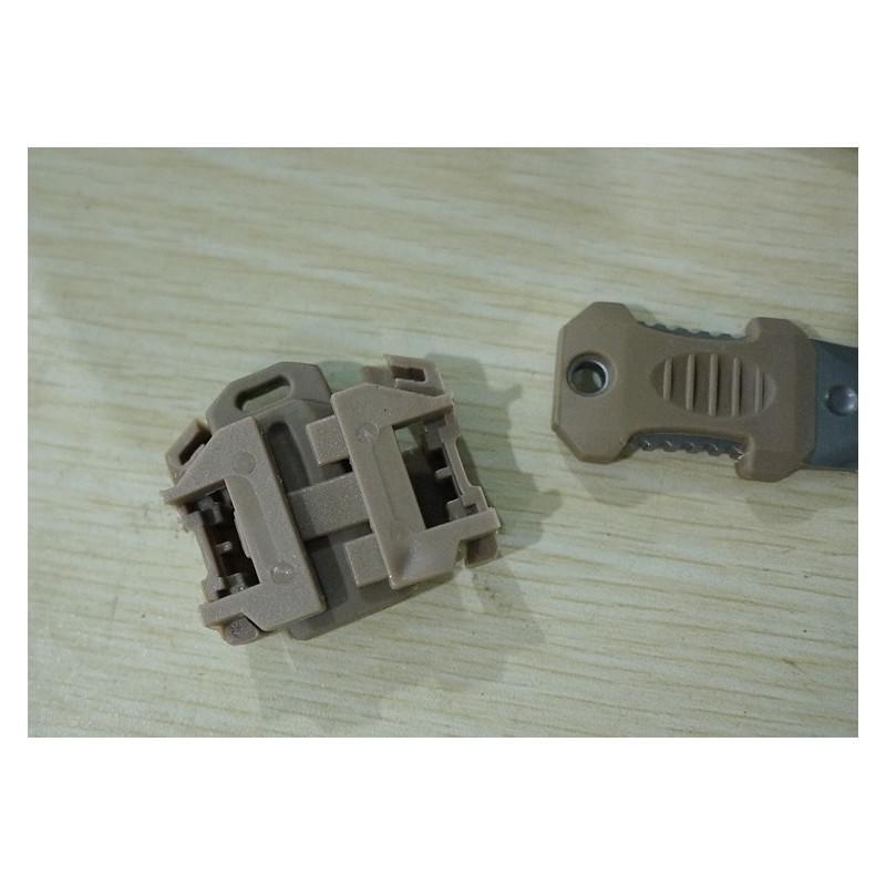 Многофункциональный EDC мини-нож для нательного, карманного ношения: сталь 440C, крепление M.O.L.L.E. 198601