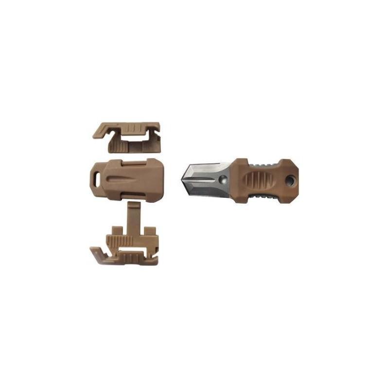 Многофункциональный EDC мини-нож для нательного, карманного ношения: сталь 440C, крепление M.O.L.L.E. 198602