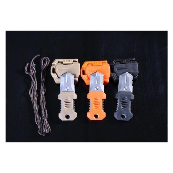 18491 - Многофункциональный EDC мини-нож для нательного, карманного ношения: сталь 440C, крепление M.O.L.L.E.