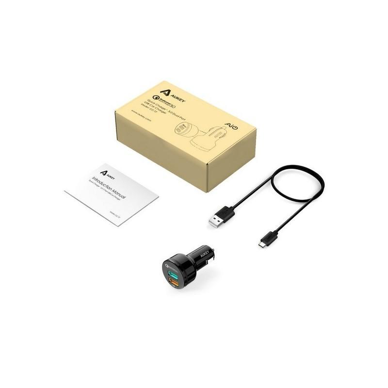 Быстрое автомобильное зарядное устройство – 2 х USB 3.0, защита от перезаряда и замыканий 198606