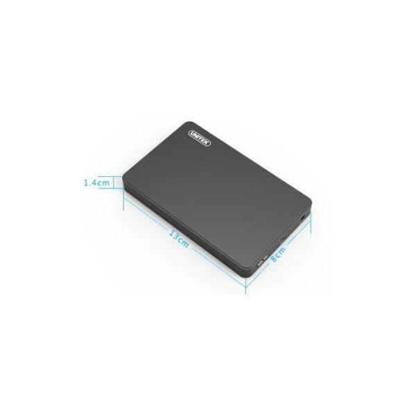 18854 - Внешний карман 2,5 дюйма для жесткого диска с USB 3.0 UNITEK: поддержка SATA-3, протокола UASP, OTG