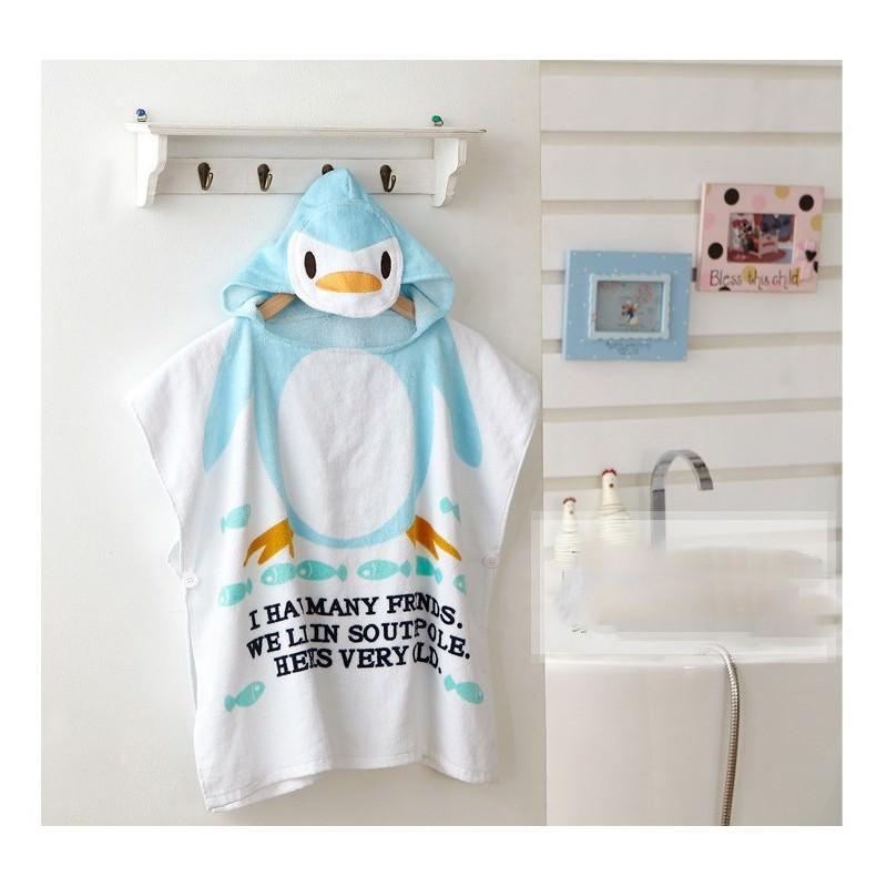 Детский халатик-полотенце: 100% хлопок 199012