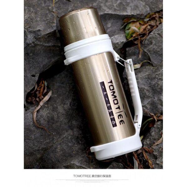 19227 - Термос с чашкой TomoTree: нержавеющая сталь, 1,2 л