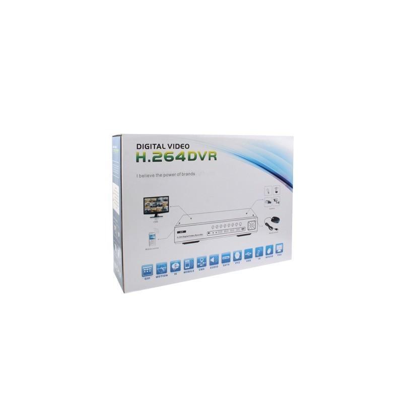 4-канальный DVR видеорегистратор PC-2046 – PAL, H.264, поддержка VGA, ТВ-выход, удаленное управление со смартфона 184908