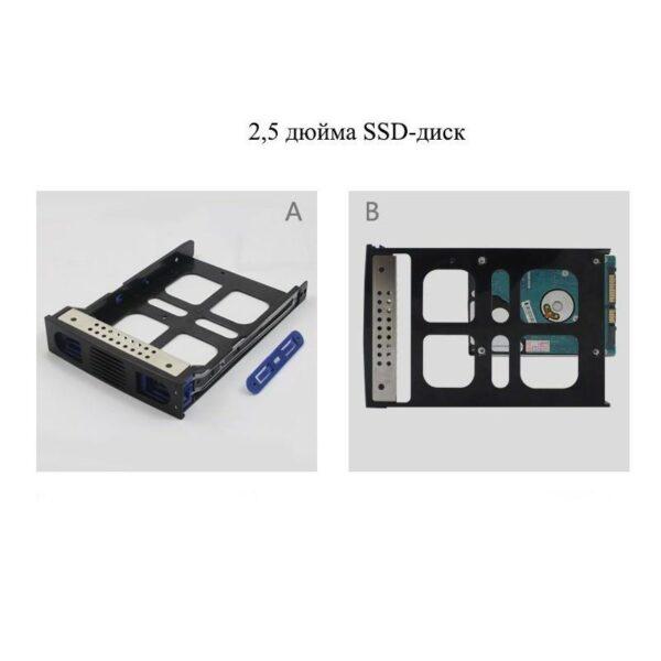 19351 - Внешний корпус для RAID-массива из 5 жестких дисков 3,5 дюйма: SATA-3, порты eSATA, USB, RAID0/1/3/5/10/ Normal /CLONE/ LARGE