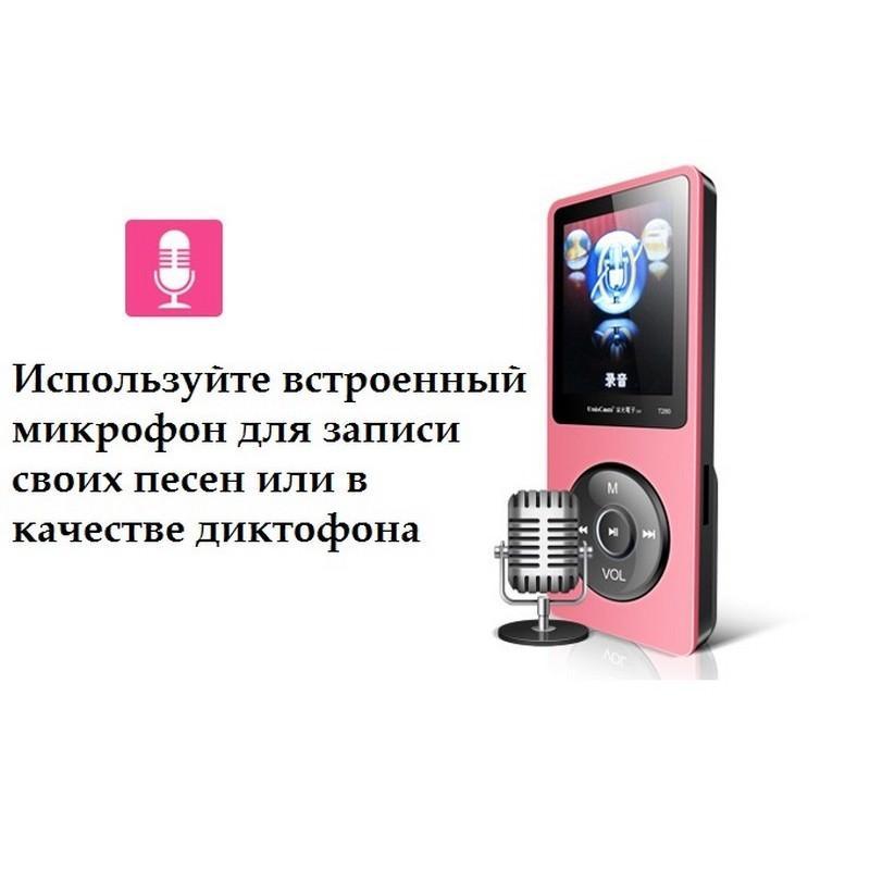 19501 - MP3-плеер UnisCom T280 - 1.8-дюймовый экран, поддержка видео и e-Book, 8 Гб памяти, динамик, диктофон, FM-радио
