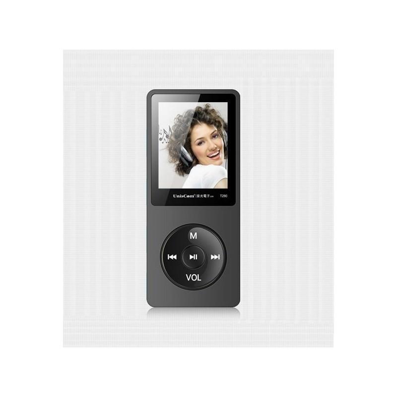MP3-плеер UnisCom T280 – 1.8-дюймовый экран, поддержка видео и e-Book, 8 Гб памяти, динамик, диктофон, FM-радио