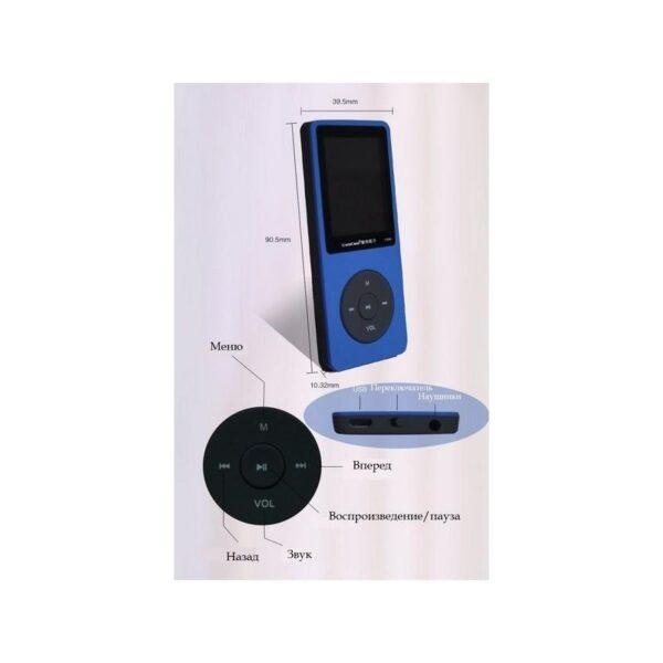 19508 - MP3-плеер UnisCom T280 - 1.8-дюймовый экран, поддержка видео и e-Book, 8 Гб памяти, динамик, диктофон, FM-радио