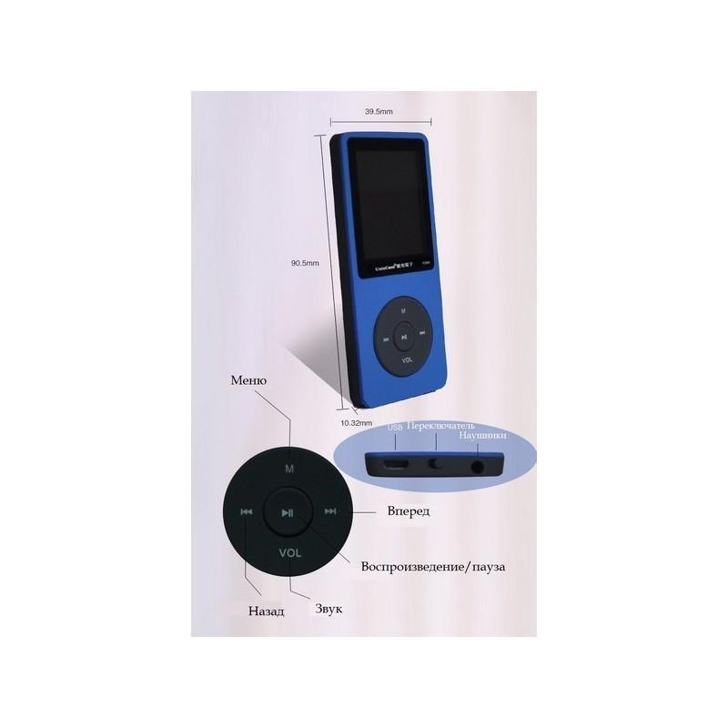 MP3-плеер UnisCom T280 – 1.8-дюймовый экран, поддержка видео и e-Book, 8 Гб памяти, динамик, диктофон, FM-радио 199469