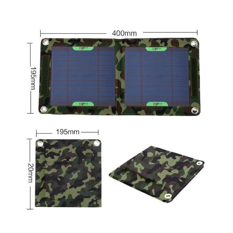 Портативное солнечное зарядное устройство: 7 Вт, 5В/ 1,3 А, USB-выход, погодоустойчивое 194115