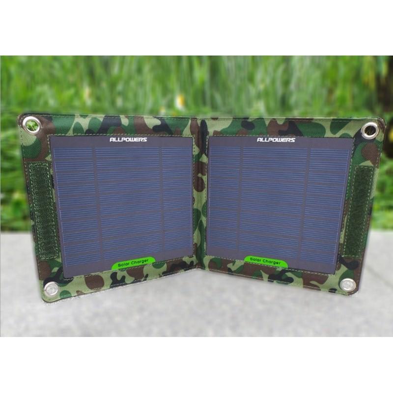 Портативное солнечное зарядное устройство: 7 Вт, 5В/ 1,3 А, USB-выход, погодоустойчивое