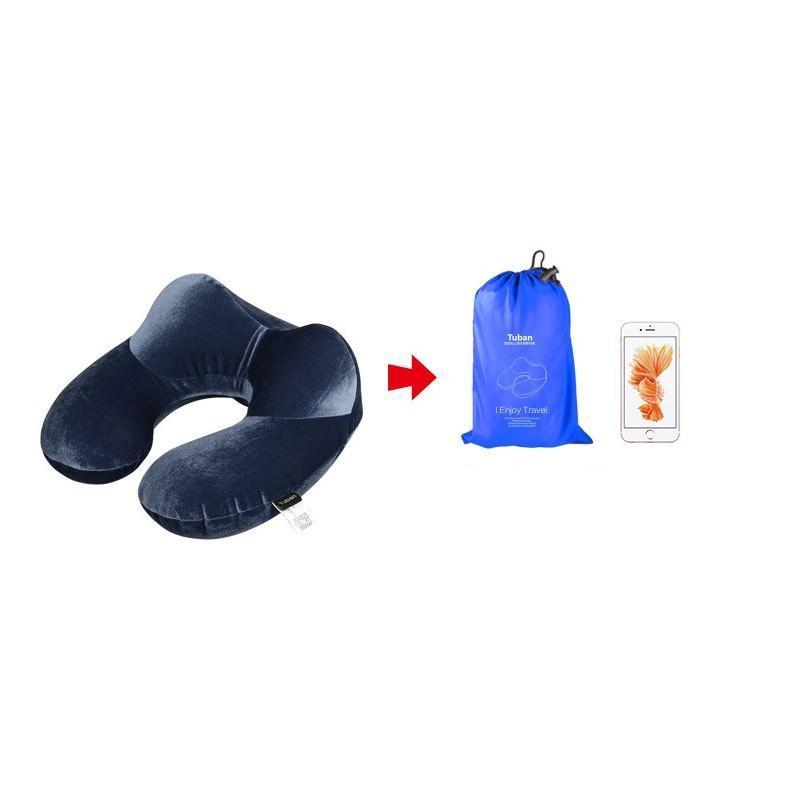 Надувная дорожная U-образная подушка для комфортного отдыха и сна 199579