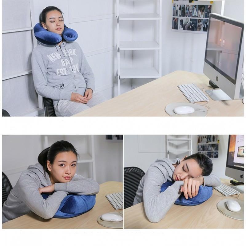 Надувная дорожная U-образная подушка для комфортного отдыха и сна 199583