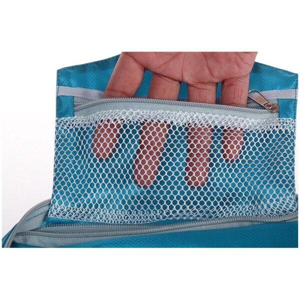 19845 - Дорожный несессер/ сумка-органайзер для банных принадлежностей и косметики: водонепроницаемая ткань, 3 внутренних отделения