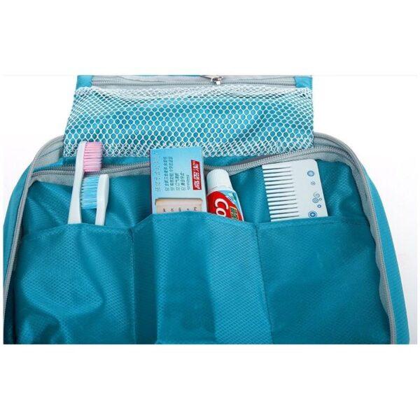 19851 - Дорожный несессер/ сумка-органайзер для банных принадлежностей и косметики: водонепроницаемая ткань, 3 внутренних отделения