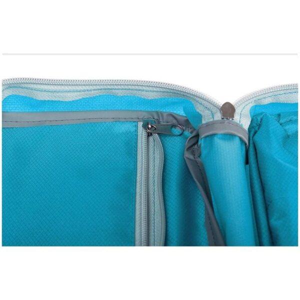 19858 - Дорожный несессер/ сумка-органайзер для банных принадлежностей и косметики: водонепроницаемая ткань, 3 внутренних отделения