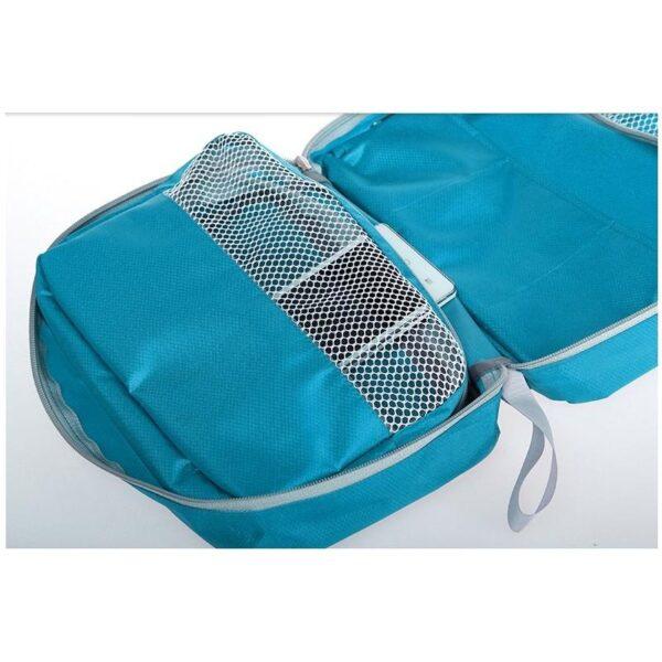 19862 - Дорожный несессер/ сумка-органайзер для банных принадлежностей и косметики: водонепроницаемая ткань, 3 внутренних отделения