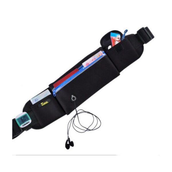 19956 - Спортивная водонепроницаемая сумка-пояс: отверстие для наушников, органайзер для мелких вещей, смартфона