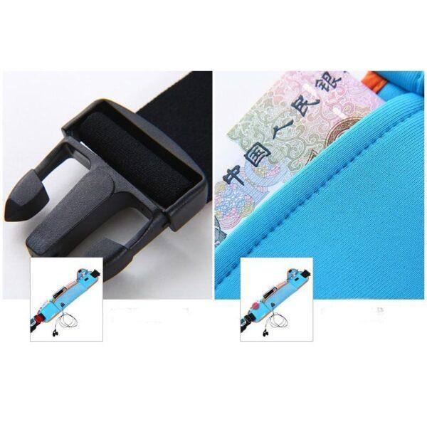 19958 - Спортивная водонепроницаемая сумка-пояс: отверстие для наушников, органайзер для мелких вещей, смартфона