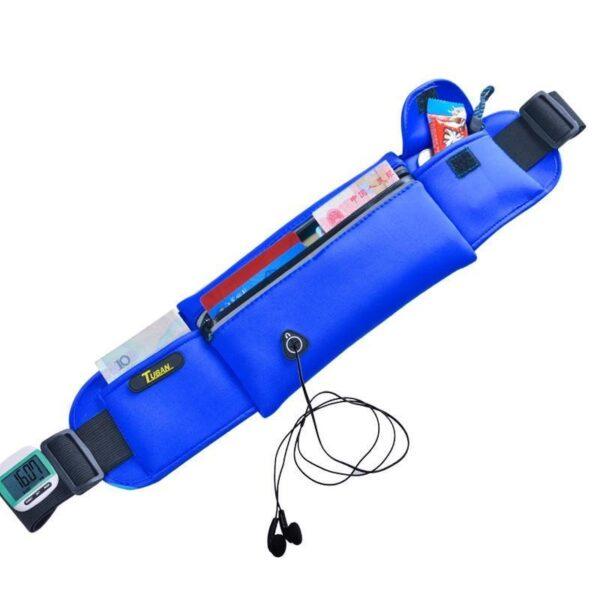 19972 - Спортивная водонепроницаемая сумка-пояс: отверстие для наушников, органайзер для мелких вещей, смартфона