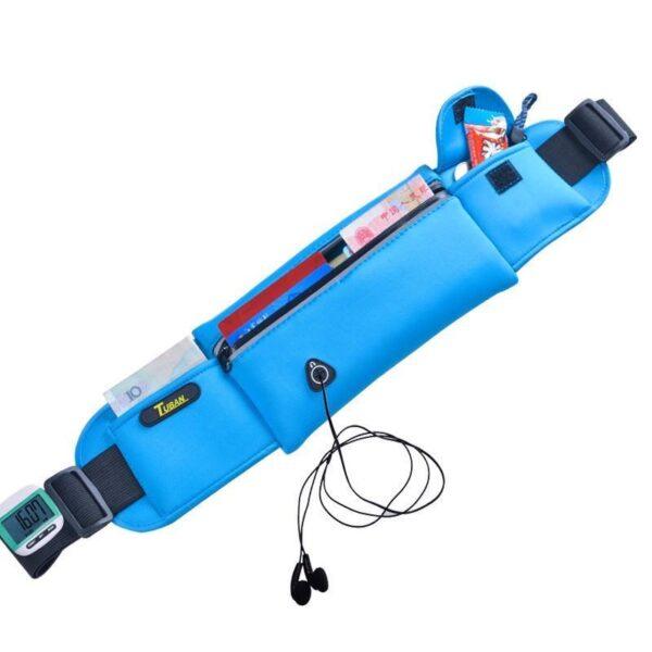 19973 - Спортивная водонепроницаемая сумка-пояс: отверстие для наушников, органайзер для мелких вещей, смартфона
