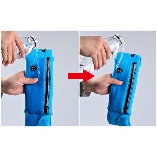19974 - Спортивная водонепроницаемая сумка-пояс: отверстие для наушников, органайзер для мелких вещей, смартфона