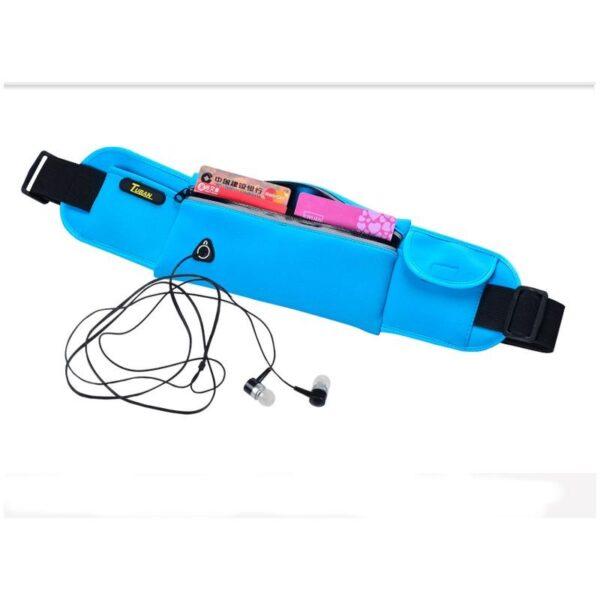 19979 - Спортивная водонепроницаемая сумка-пояс: отверстие для наушников, органайзер для мелких вещей, смартфона