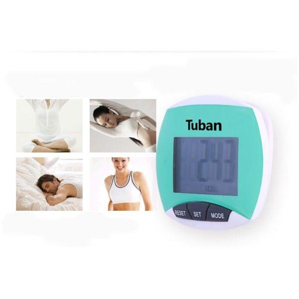 20005 - Цифровой шагомер + счетчик калорий: ЖК-экран, удобный зажим-клипса