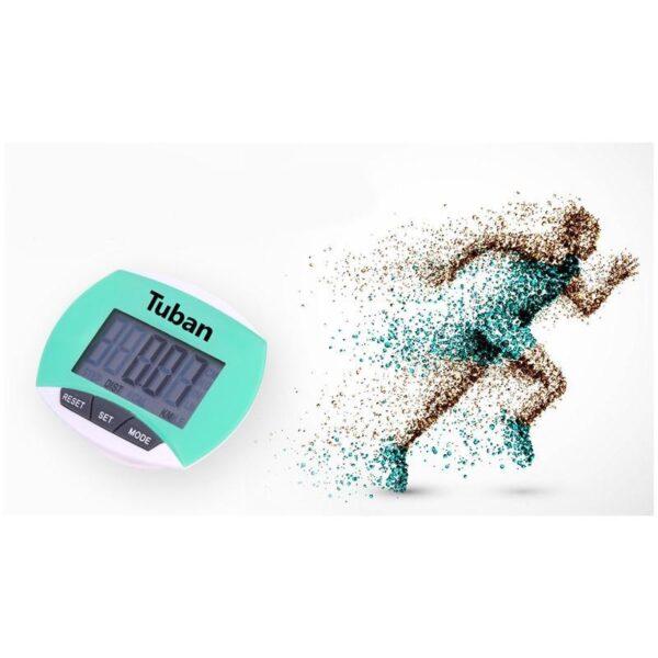 20008 - Цифровой шагомер + счетчик калорий: ЖК-экран, удобный зажим-клипса