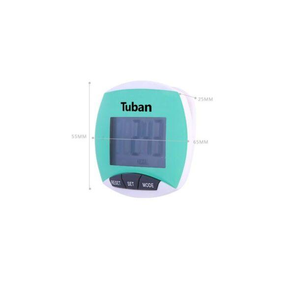 20018 - Цифровой шагомер + счетчик калорий: ЖК-экран, удобный зажим-клипса