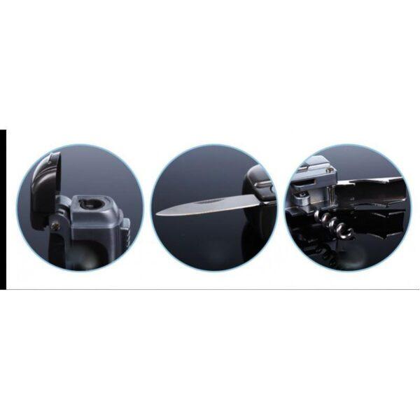 20020 - Зажигалка-мультитул IRON MAN: ветрозащита горелки, штопор, открывалка, нож