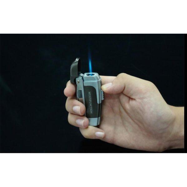 20027 - Зажигалка-мультитул IRON MAN: ветрозащита горелки, штопор, открывалка, нож