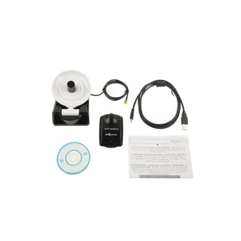 2004 - Сетевой Wi-Fi адаптер A-5058, USB 2.0,54 Мбит/с, 8000 мВт, 58 дБи, до 10 км