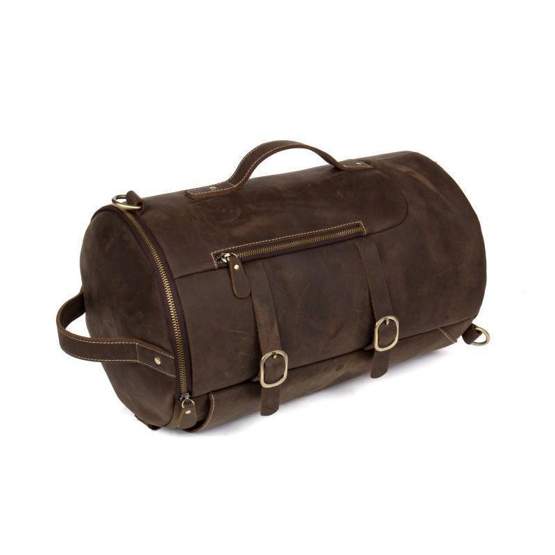 Мужская сумка-тубус из натуральной кожи Crazy Horse: плечевые лямки, съемная ручка 200075