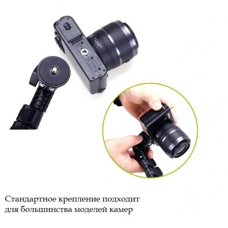 Телескопический монопод Yunteng 1288 – Bluetooth-кнопка, ZOOM, длина 38-128 см 200105
