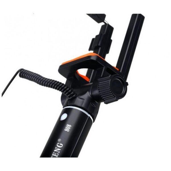 20293 - Мини селфи-палка Yunteng 808 - 2 модели, проводное и Bluetooth подключение, 20-80 см, крепление 5.5-8.5 см