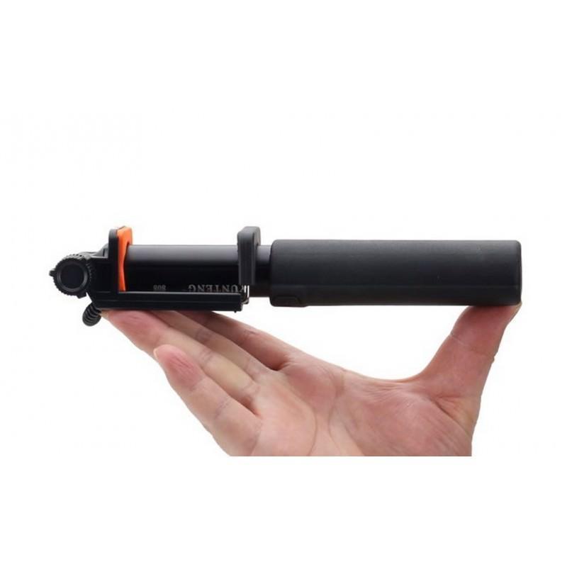 Мини селфи-палка Yunteng 808 – 2 модели, проводное и Bluetooth подключение, 20-80 см, крепление 5.5-8.5 см 200127
