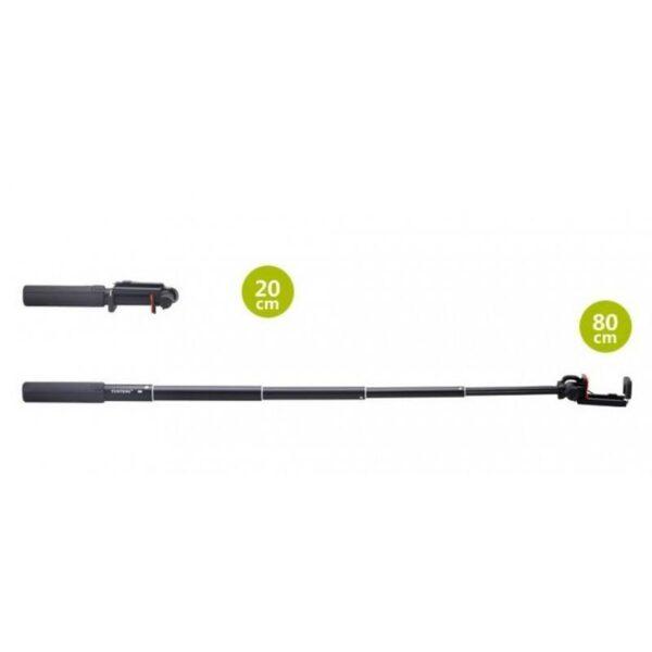 20296 - Мини селфи-палка Yunteng 808 - 2 модели, проводное и Bluetooth подключение, 20-80 см, крепление 5.5-8.5 см
