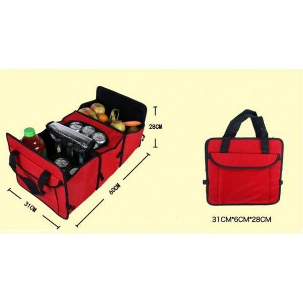 20308 - Автомобильный ящик-трансформер для перевозки вещей, еды и напитков