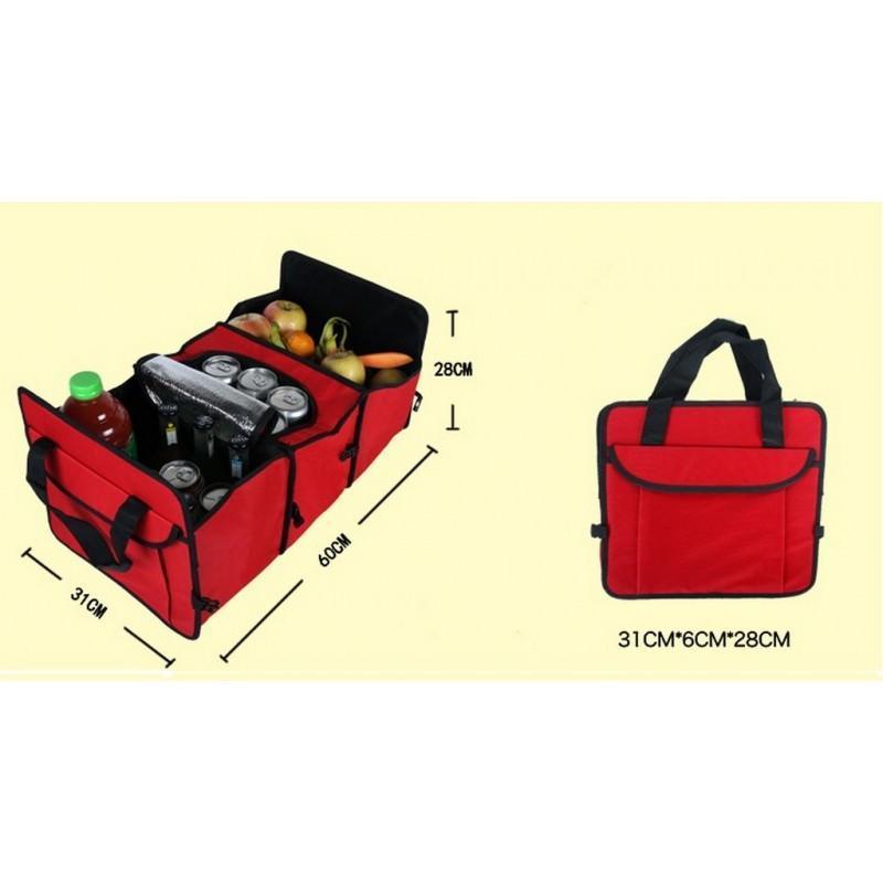 Автомобильный ящик-трансформер для перевозки вещей, еды и напитков 200139
