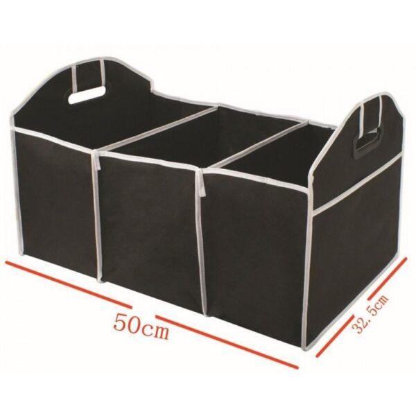 20311 - Ящик для хранения вещей в багажнике автомобиля - нетканый текстиль, 3 отделения, крепкие ручки