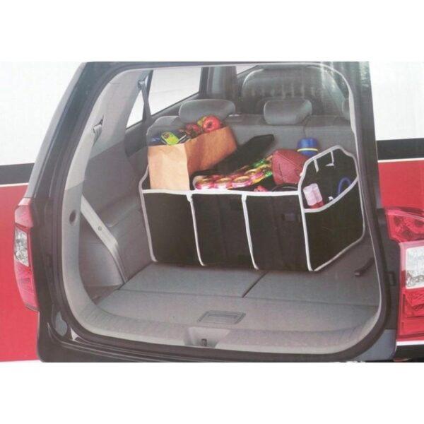 20312 - Ящик для хранения вещей в багажнике автомобиля - нетканый текстиль, 3 отделения, крепкие ручки