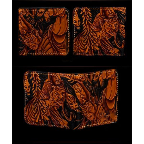 20322 - Портмоне ручной работы Kongery Demonic Shade: кожа первый слой
