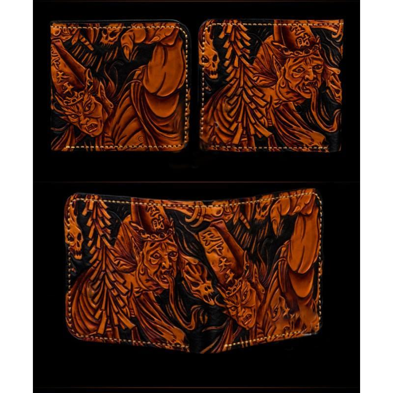 Портмоне ручной работы Kongery Demonic Shade: кожа первый слой 200152